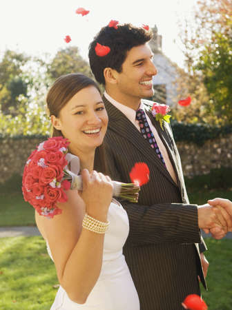 appendage: A wedding couple after the ceremony