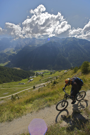 exhilarating: Mountain biking in the alps