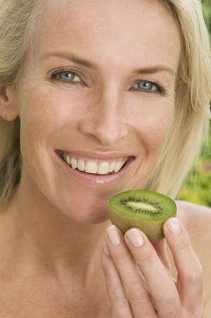 tetbury: Portrait of woman healthy eating