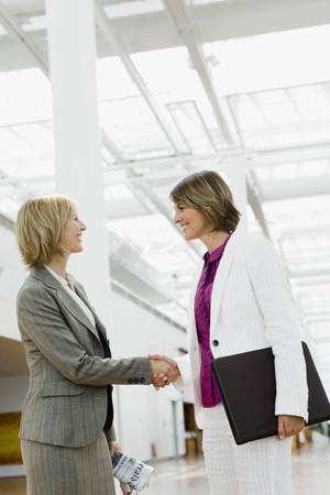 verticals: Two women shaking hands