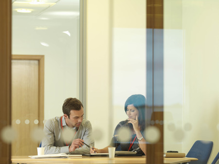 Office staff in meeting