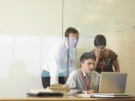 talker: Office staff in meeting