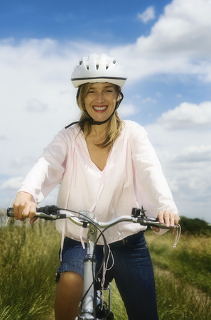 ceased: Portrait of female cyclist
