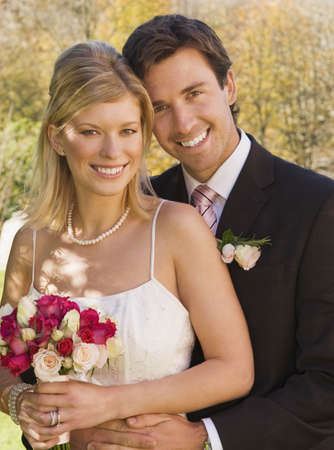 passions: A wedding couple smiling to camera