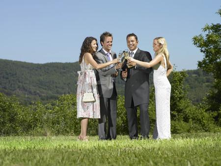 Wedding party toast
