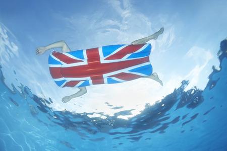rejuvenated: Underwater view of man in pool