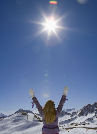 rejuvenated: Girl with arms in the air LANG_EVOIMAGES