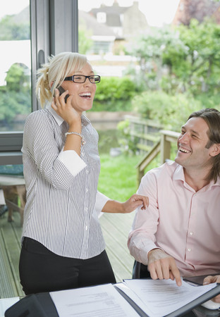 a meeting with a view to marriage: Couple conduct business over the phone