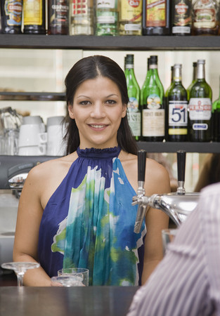 Portrait of bartender