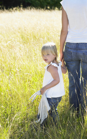 revolved: Mother and daughter in a field