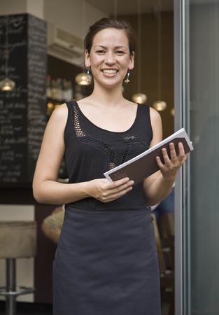 Portrait of server in doorway