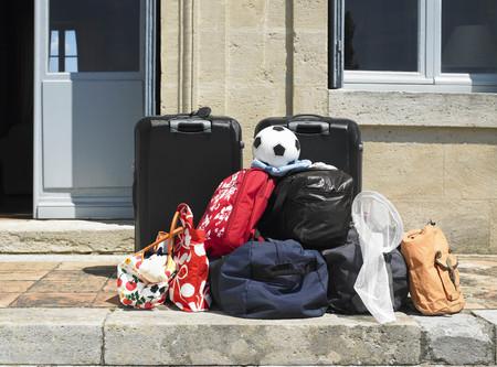 Luggage on door step