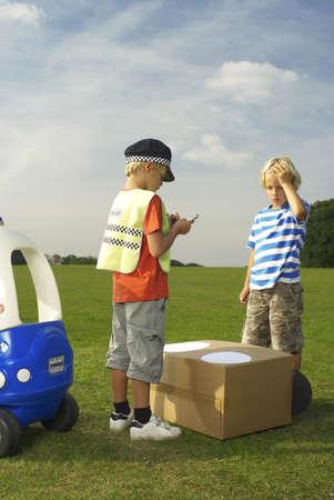 equivalents: boy policeman booking boy driver