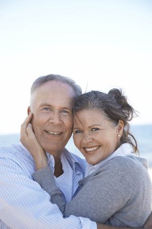 new age: Portrait of mature couple close together