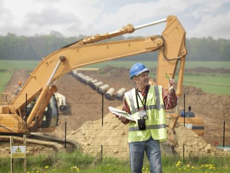 Ecologist Near Construction Site