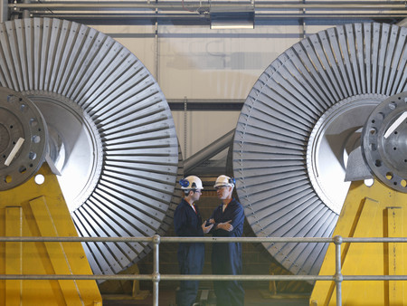 interrogations: Engineers In Front Of Turbines