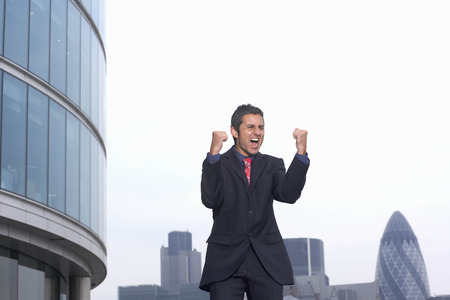 shrieking: Business man celebrating