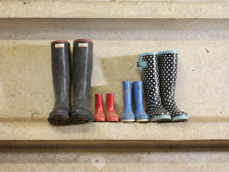 dirtied: Four Pairs Of Wellington Boots
