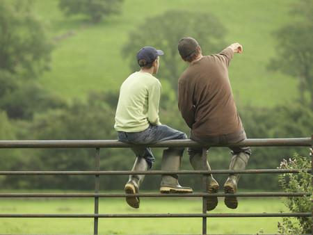 interrogations: Farmer Talking To Son On Gate