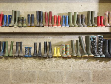 dirtied: Wellington Boots Against The Wall