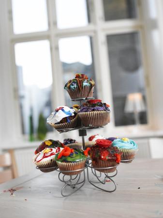 Family making Cupcakes