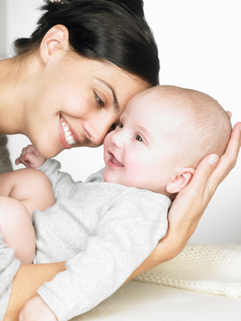 prideful: Mother with her baby, smiling