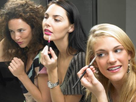applied: Girls applying makeup