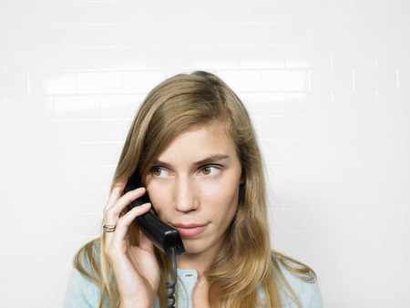 responding: Woman on the phone