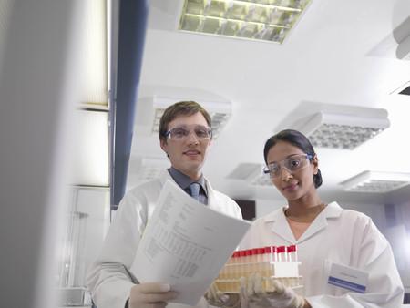 experimentation: Laboratory technicians at work