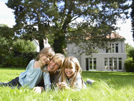 abodes: Mother and daughters in the garden