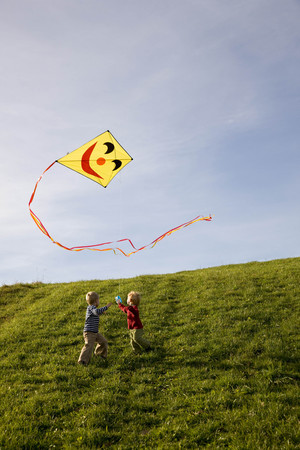 viewed: Two Boys fly a Kite LANG_EVOIMAGES