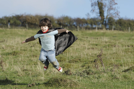 dressups: Super Hero boy in field