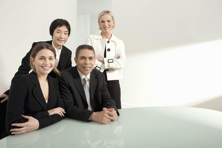 A portrait of a business group