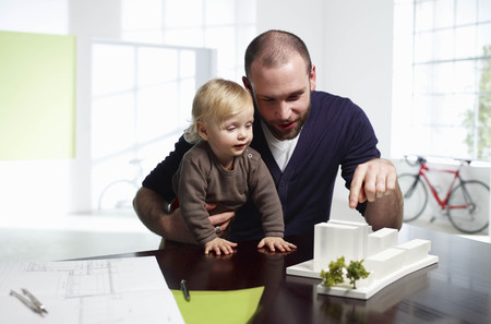 weber: Male architect with baby
