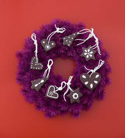 advent wreath decorated with cookies LANG_EVOIMAGES