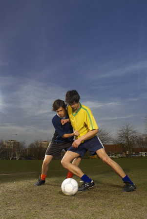 struggled: two men playing football
