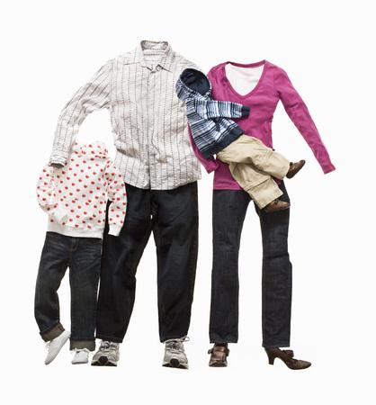 Eine Familie aus Kleidung LANG_EVOIMAGES