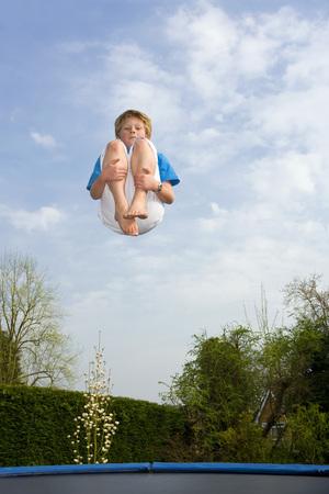 limber: Playing on trampoline