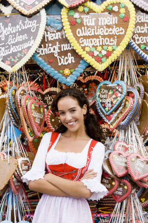 flogging: Young Woman With Gingerbread Many Hearts