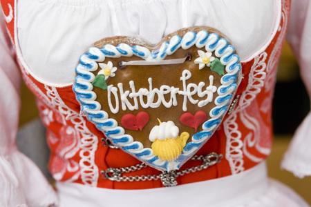 single word: Gingerbread Heart Oktoberfest