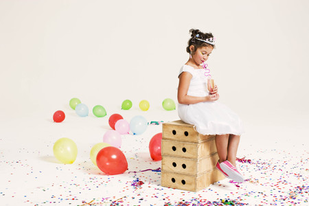 new age: party girl drinking through straw LANG_EVOIMAGES