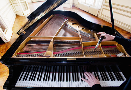 musically: Piano being tuned