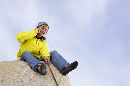 reconocimientos: Escalador, asegurando, compañero, escalador