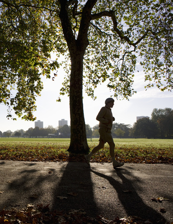 Jogging through London