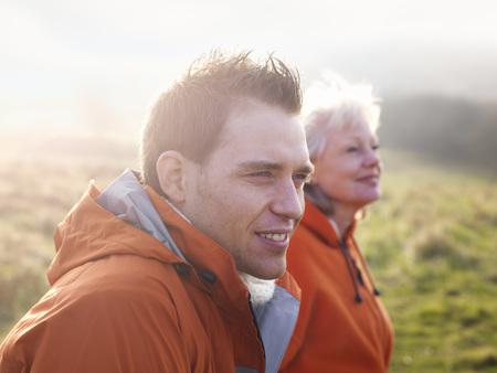 admired: man & woman hiking LANG_EVOIMAGES