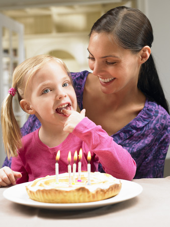 tempted: Mother and daughter celebrating birthday