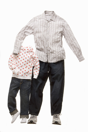 cherished: A father and son made from clothes LANG_EVOIMAGES