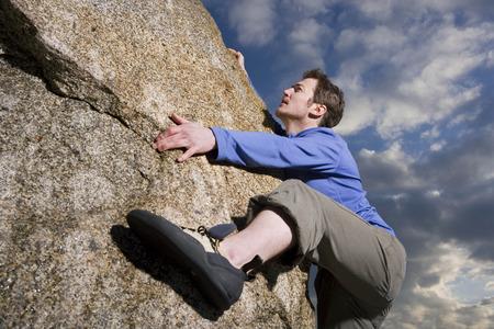 free climbing boulder