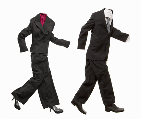 pursued: A couple of business suits walking