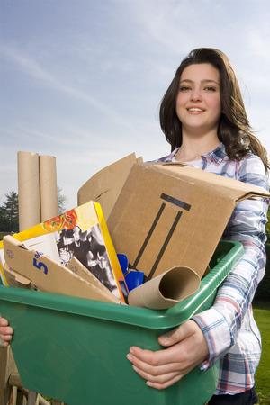 pubescent: Children Recycling LANG_EVOIMAGES